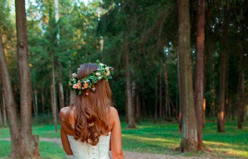Mariée sur cheveux longs