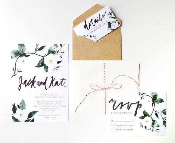 Modèle invitation de mariage imprimable 1 - Blog Mariage