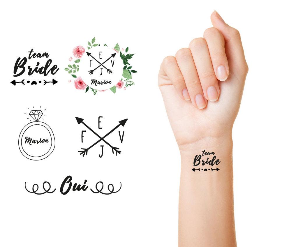 Lot 13 tatouages personnalisés 1 - Blog Mariage