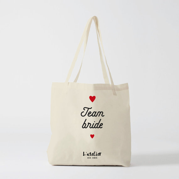 Tote bag team bride 1 - Blog Mariage