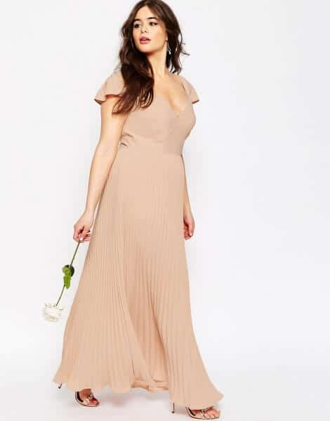 ASOS CURVE WEDDING Maxi Dress With Lace Back
