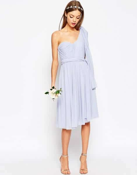 ASOS WEDDING Multiway Mesh Midi Dress