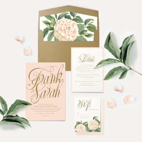 Invitation de mariage floral 1 - Blog Mariage