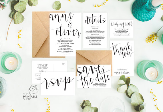 Invitation calligraphiée 1 - Blog Mariage