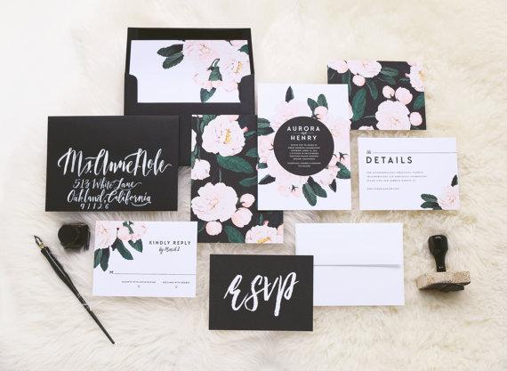 Faire-part de mariage floral 1 - Blog Mariage
