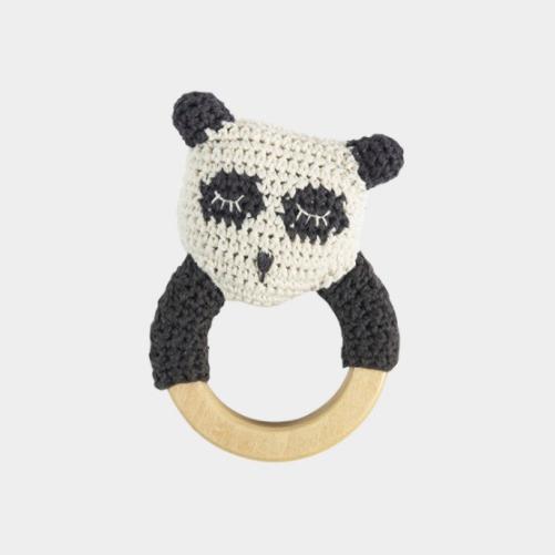 Hochet crochet panda 1 - Blog Mariage
