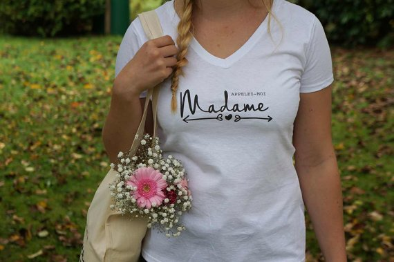 "Tee-shirt ""appelez-moi madame"" 1 - Blog Mariage"