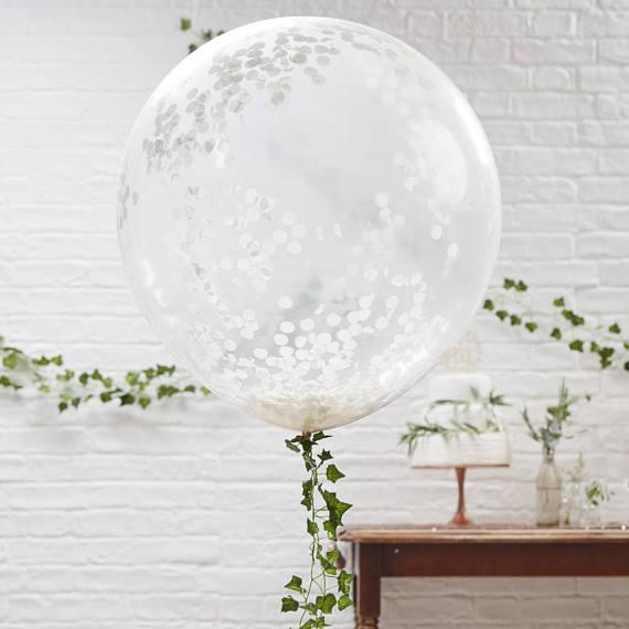 Lot de 3 ballons confettis 1 - Blog Mariage
