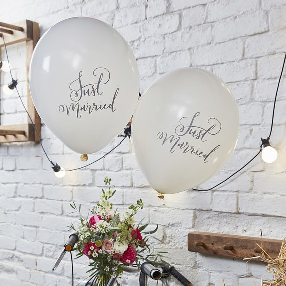 10 ballons just married 1 - Blog Mariage
