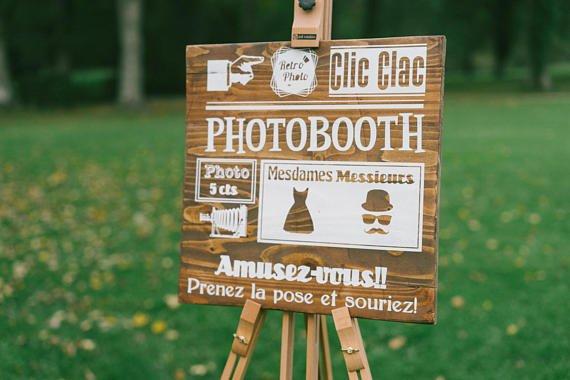 Panneau Photo Booth en bois 1 - Blog Mariage