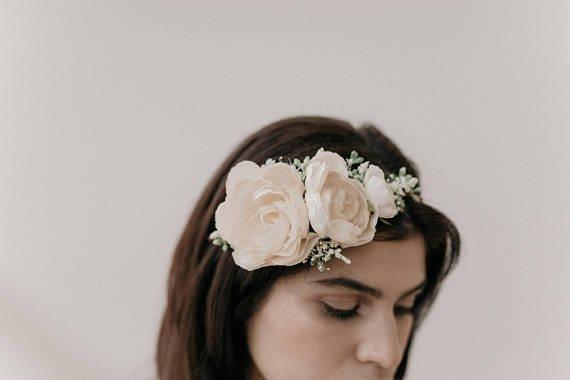 Headband Fleuri 1 - Blog Mariage