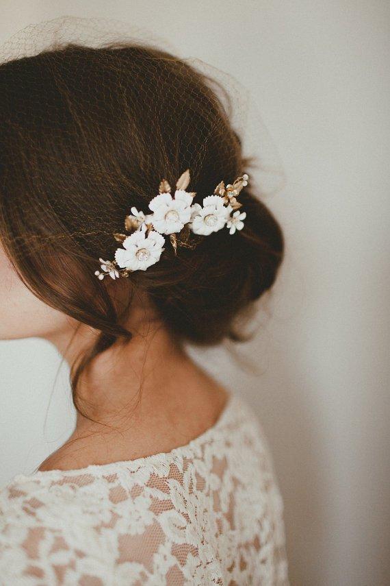 Épingles à cheveux fleur 1 - Blog Mariage