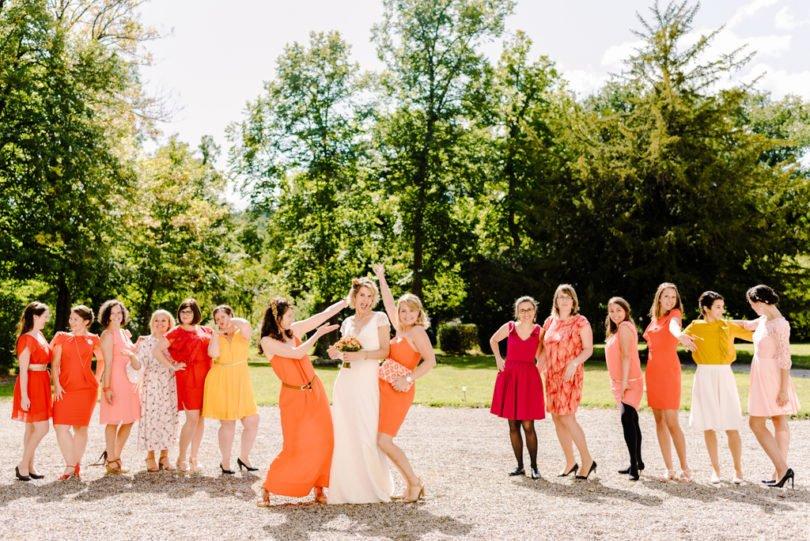Mariage Orange pastel et Bleu gris Mariage Orange pastel et Bleu gris V&M 25 - Blog Mariage