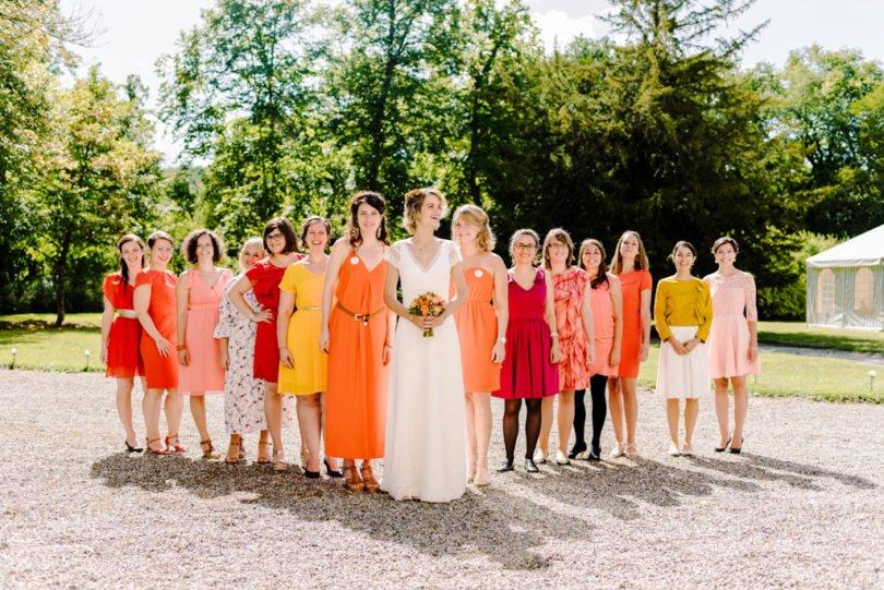 Mariage Orange pastel et Bleu gris Mariage Orange pastel et Bleu gris V&M 23 - Blog Mariage